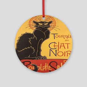 Le Chat Noir Round Ornament