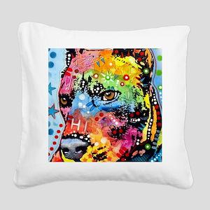 Smokey The Pitbull Square Canvas Pillow