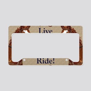 Live! Laugh! Ride! Horse License Plate Holder