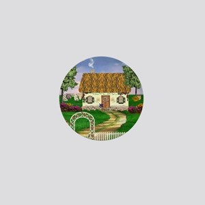 Country Cottage Mini Button