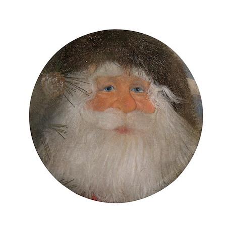 """Mountain Santa 3.5"""" Button"""