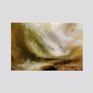 Turner Snowstorm and Avalanche Rectangle Magnet