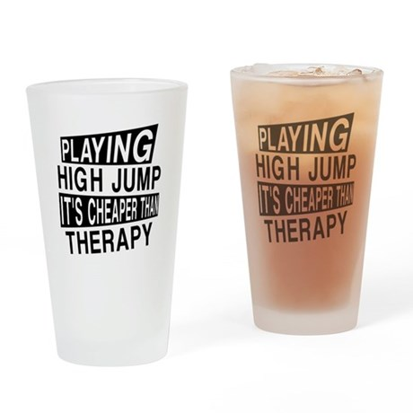 Awesome High Jump Player Designs Drinking Glass