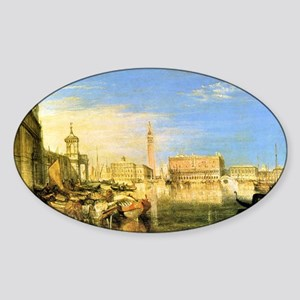 William Turner Venice Sticker (Oval)