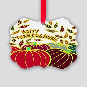 Happy Thanksgiving Picture Ornament