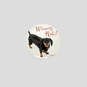Wieners Rule Mini Button