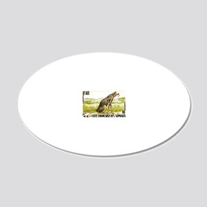 1958 Somalia Cheetah Cat Pos 20x12 Oval Wall Decal
