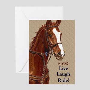 Live! Laugh! Ride! Horse Greeting Card