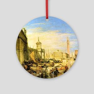 William Turner Venice Round Ornament