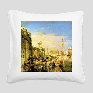William Turner Venice Square Canvas Pillow