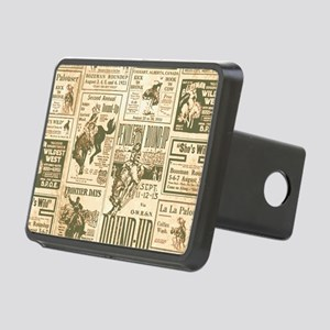 Vintage Rodeo Round-Up Rectangular Hitch Cover