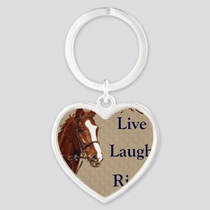 Live! Laugh! Ride! Horse Heart Keychain