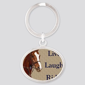 Live! Laugh! Ride! Horse Oval Keychain