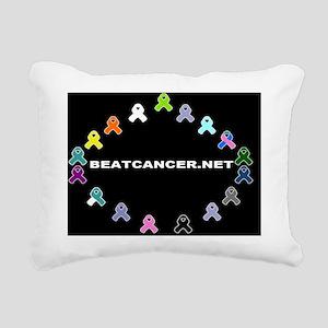 BEATCANCER.NET Magnetic  Rectangular Canvas Pillow