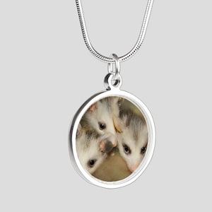 Possum BSnuttles Silver Round Necklace