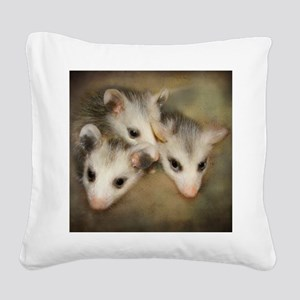 Possum BSnuttles Square Canvas Pillow