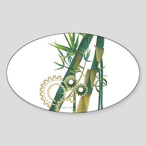 sugarcane Oval Sticker
