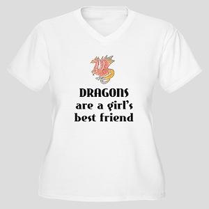 Dragon Girl Women's Plus Size V-Neck T-Shirt
