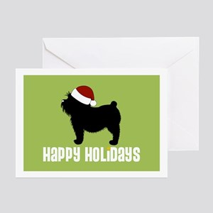 "Yorkie ""Santa Hat"" Greeting Cards (Pk of 10)"
