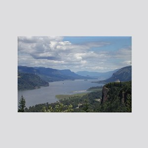 Columbia River gorge Rectangle Magnet
