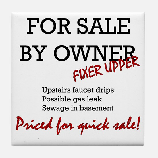 For Sale By Owner Tile Coaster