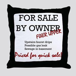 For Sale By Owner Throw Pillow