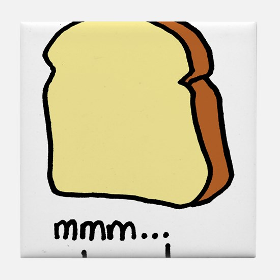 mmm.. bread. Tile Coaster