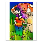 Butterfly Faery Girl Small Poster