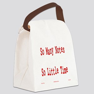 So Many Notes Canvas Lunch Bag