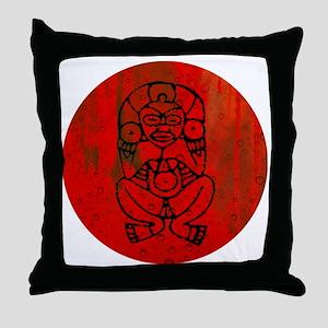 Atabey, Taino Goddess Throw Pillow