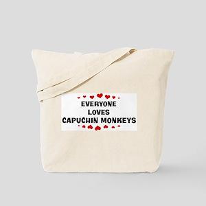 Loves: Capuchin Monkeys Tote Bag