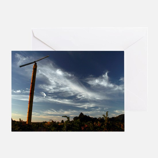 Vineyard Fan 11x18 Greeting Card