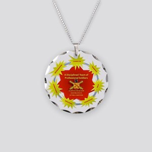 On TIme VIsion Symbol Necklace Circle Charm