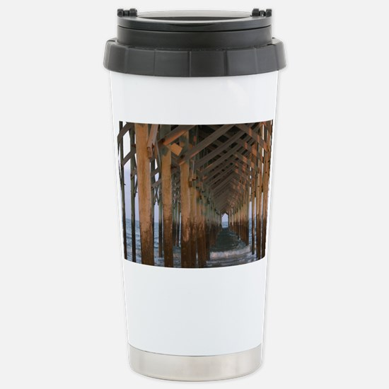 001-Under Pawleys Pier Stainless Steel Travel Mug
