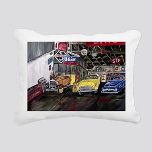 Classical Car Calender Rectangular Canvas Pillow