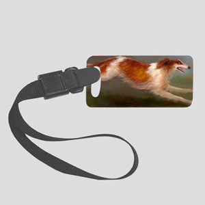 Running Borzoi/Russian Wolfhound Small Luggage Tag