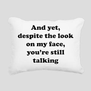 lookFaceTalk1A Rectangular Canvas Pillow