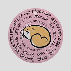 Sing Soft Kitty Round Ornament