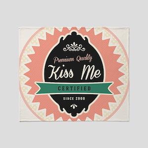 Certified Kiss Me Button Light Throw Blanket