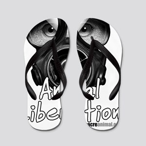 Animal Lib white Flip Flops