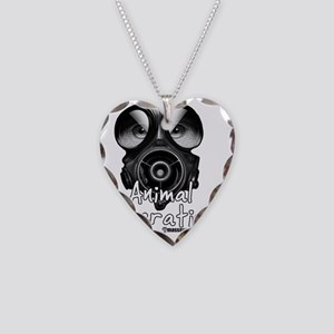 Animal Lib white Necklace Heart Charm