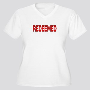 Redeemed Women's Plus Size V-Neck T-Shirt