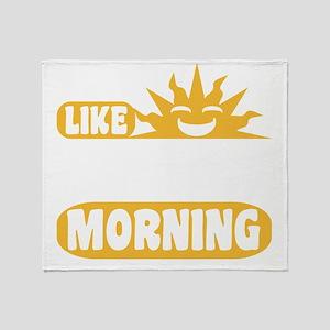 Easy Like Sunday Morning Throw Blanket