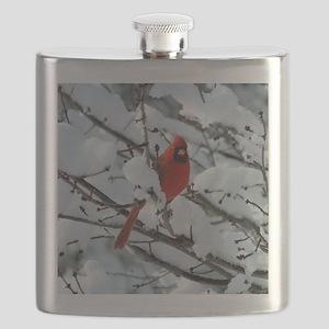 Snow Cardinal Flask