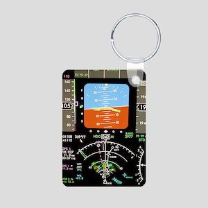 Aeroplane control panel di Aluminum Photo Keychain