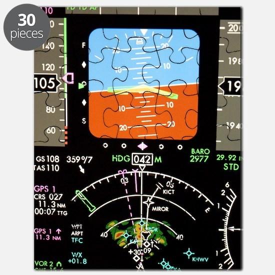 Aeroplane control panel display Puzzle