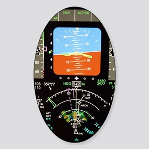 Aeroplane control panel display Sticker (Oval)