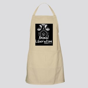 Animal Liberation Black Button Apron