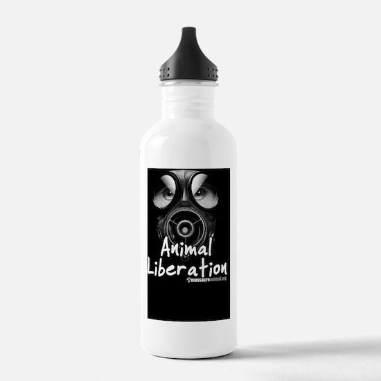 Animal Liberation Blac Water Bottle