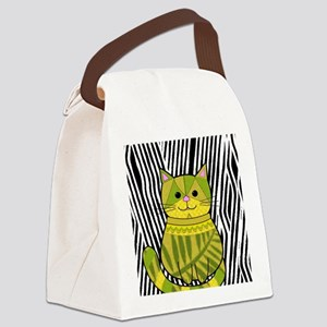 Jungle Cat Canvas Lunch Bag